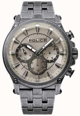 Police | męskie taman | bransoleta ze stali nierdzewnej | szara tarcza z brązu 15920JSQU/20M