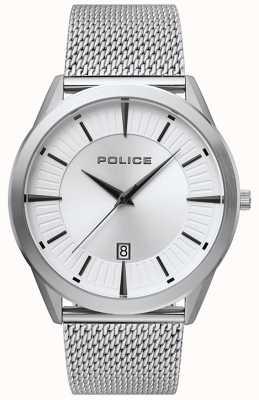 Police | mężczyzna patriota | bransoleta ze stali nierdzewnej | srebrna tarcza 15305JS/04MM