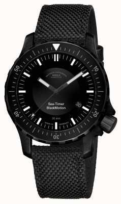 Muhle Glashutte | zegar morski czarny ruch | czarna bransoletka syntetyczna | M1-41-83-NB