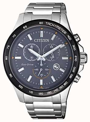 Citizen | męski chronograf eco-drive | bransoleta ze stali nierdzewnej | AT2424-82H