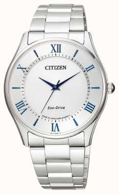 Citizen | męskie eco-drive | bransoleta ze stali nierdzewnej | srebrna tarcza | BJ6480-51B
