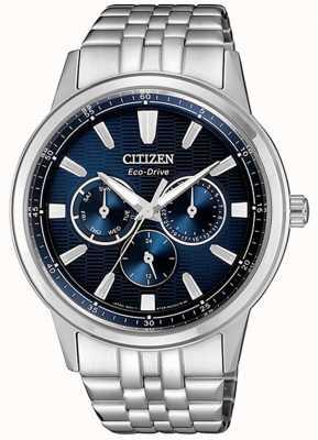 Citizen | męskie eco-drive | bransoleta ze stali nierdzewnej | niebieska tarcza | BU2071-87L