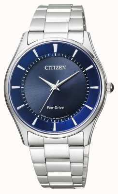 Citizen | męskie eco-drive | bransoleta ze stali nierdzewnej | niebieska tarcza | BJ6480-51L