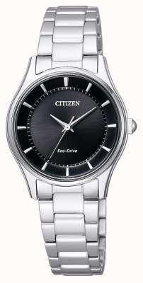 Citizen | eko-drive dla kobiet | bransoleta ze stali nierdzewnej | czarna tarcza | EM0401-59E