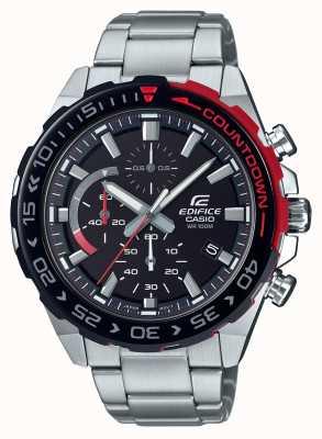 Casio | chronograf gmachowy | bransoleta ze stali nierdzewnej | czarna tarcza EFR-566DB-1AVUEF