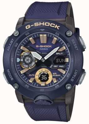 Casio | G-shock światowy rdzeń węglowy | niebieski pasek gumowy | GA-2000-2AER