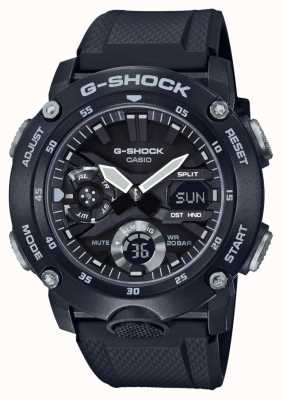 Casio | osłona rdzenia węglowego g-shock | czarny gumowy pasek | GA-2000S-1AER