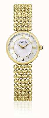 Michel Herbelin | kobiety perle | bransoletka ze złotym tonem | tarcza z masy perłowej | 17483/BP19
