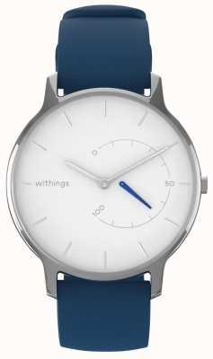 Withings Przenieś ponadczasowy szykowny - biały, niebieski silikon HWA06M-TIMELESS CHIC-MODEL 2-RET-INT
