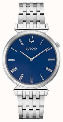 Bulova | męskie | bransoleta ze stali nierdzewnej | niebieska tarcza | 96A233