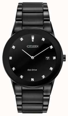 Citizen | mężczyzna axiom eco-drive | czarna diamentowa tarcza | czarna bransoletka AU1065-58G