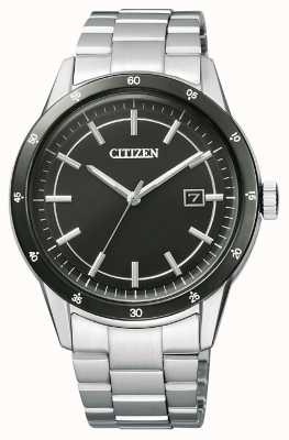 Citizen | męskie eco-drive | bransoleta ze stali nierdzewnej | czarna tarcza | AW1164-53E