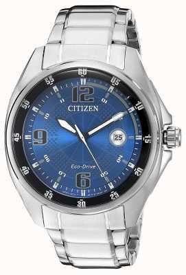 Citizen | męskie eco-drive | niebieska tarcza | bransoleta ze stali nierdzewnej | AW1510-54L