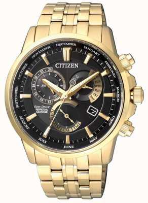 Citizen | męskie eco-drive kaliber 8700 | czarna tarcza | złoty ton | BL8142-84E