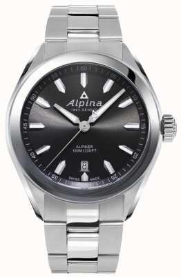 Alpina | męskie alpinery | bransoleta ze stali nierdzewnej | szara tarcza | AL-240GS4E6B