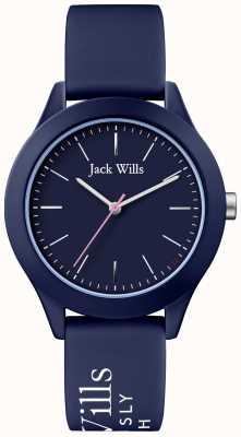 Jack Wills | unia kobiet | granatowa tarcza | granatowy pasek silikonowy | JW009NVBL