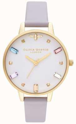 Olivia Burton | damskie | tęczowa pszczoła | demi parma fioletowy pasek | OB16RB11