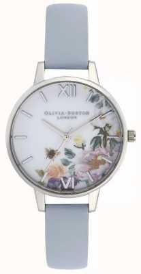 Olivia Burton | damskie | zaczarowany ogród | kredowy niebieski skórzany pasek | OB16EG114