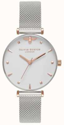 Olivia Burton | kobiety | królowa pszczół | bransoleta z siatki ze stali nierdzewnej | OB16AM140