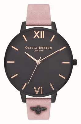 Olivia Burton | kobiety | Pszczoła 3d | ozdobiony pasek z zamszu różanego | OB16ES09
