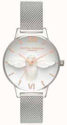 Olivia Burton | damskie | 3d pszczoła | bransoleta z siatki ze stali nierdzewnej | OB16AM146