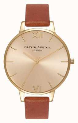 Olivia Burton | kobiety | tarcza słoneczna | brązowa skóra | OB13BD09