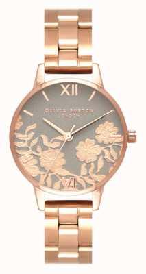Olivia Burton | kobiety | koronkowa tarcza ze szczegółami | bransoletka z różowego złota | OB16MV88