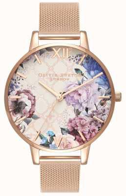 Olivia Burton | kobiety | szklarnia | bransoletka z siateczki w kolorze różowego złota | OB16EG86