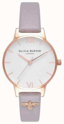 Olivia Burton | kobiety | Pszczoła 3d | zdobiony skórzany szary pasek liliowy | OB16ES11