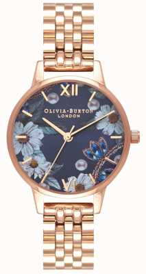 Olivia Burton | kobiety | bejeweled florals | bransoletka ze złota różowego | OB16BF17