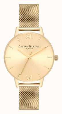 Olivia Burton | kobiety | tarcza słoneczna midi | złota bransoletka z siatki | OB16MD85