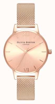 Olivia Burton | kobiety | midi | tarcza słoneczna | bransoletka z siateczki w kolorze różowego złota | OB16MD84