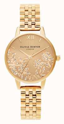 Olivia Burton | kobiety | koronkowa bejewelled | bransoletka ze złotym tonem | OB16MV105