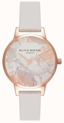 Olivia Burton | kobiety | streszczenie florals | pasek ze skóry blush | OB16VM12