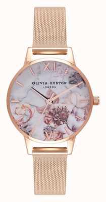 Olivia Burton | kobiety | marmurowe florale | bransoletka z siateczki w kolorze różowego złota | OB16CS06