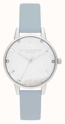 Olivia Burton | kobiety | zegarek, który chce | wegański kredowy niebieski pasek | OB16SG07