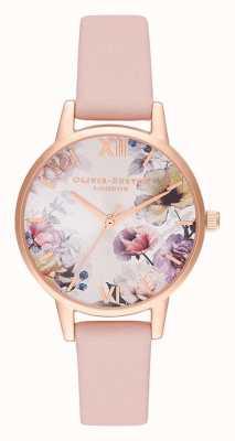 Olivia Burton | kobiety | światło słoneczne florals | zakurzony różowy skórzany pasek | OB16EG115