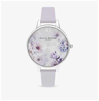 Olivia Burton | kobiety | światło słoneczne florals | skórzany pasek w kolorze fioletu parmeńskiego | OB16EG137