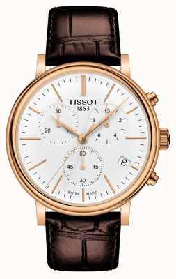 Tissot | chronograf premium samochodów | brązowy skórzany pasek | T1224173601100