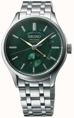 """Seiko Presage automatyczny """"cocktail time"""" zen ogrodowy zielony cyferblat ze stali nierdzewnej SSA397J1"""