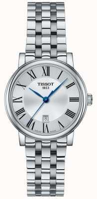 Tissot | damskie carson | bransoleta ze stali nierdzewnej | srebrna tarcza | T1222101103300
