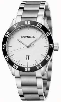 Calvin Klein | konkurować | męskie | bransoleta ze stali nierdzewnej | biała tarcza | K9R31C46