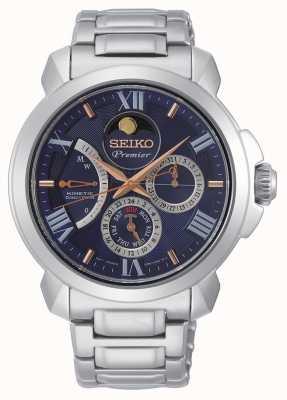 Seiko | premier kinetyczny bezpośredni napęd | męskie | niebieski kalendarz | SRX017P1