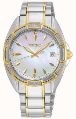 Seiko | seria koncepcyjna | kobiety | dwukolorowa złota bransoletka SKK880P1