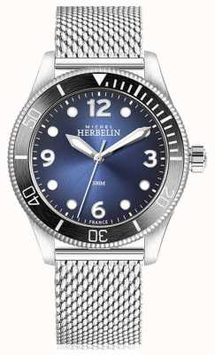 Michel Herbelin | kwarc trofeum | męskie | niebieska tarcza | siatka ze stali nierdzewnej | 12260/AN15B