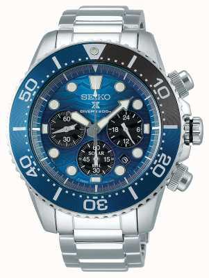 Seiko | prospex diver's | ocal ocean | niebieska tarcza chronografu | SSC741P1