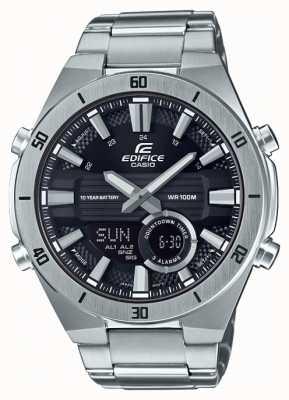 Casio | gmach | męskie | standardowy chronograf | czarna tarcza | ERA-110D-1AVEF