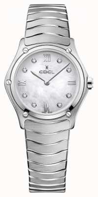 EBEL Sportowy klasyk damski | tarcza z masy perłowej | zestaw diamentów | 1216417A