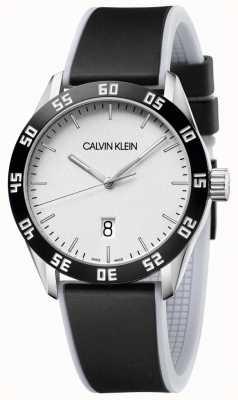 Calvin Klein | męskie | konkurować | czarny gumowy pasek | srebrna tarcza | K9R31CD6