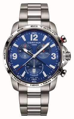 Certina   ds podium   niebieska tarcza chronografu   Stal nierdzewna C0016474404700
